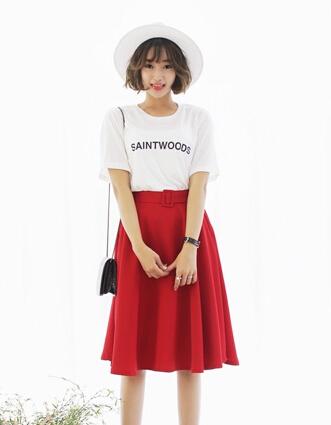 T恤半身裙搭配2